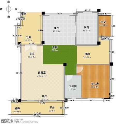 碧桂园天麓山1室0厅1卫1厨327.00㎡户型图