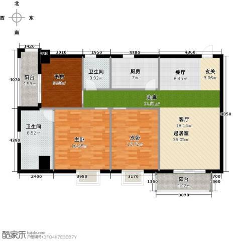 永辉 巴黎3室0厅2卫1厨149.00㎡户型图