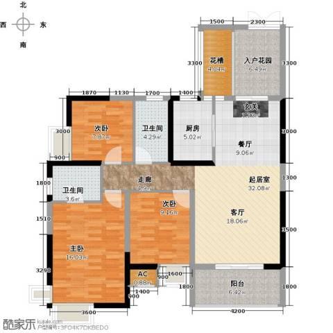 领御玺台3室0厅2卫1厨137.00㎡户型图