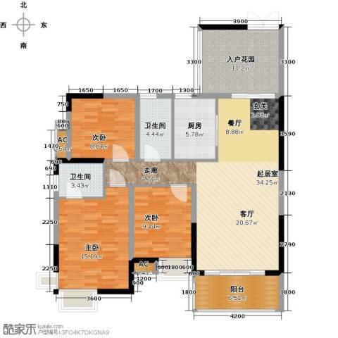 领御玺台3室0厅2卫1厨142.00㎡户型图