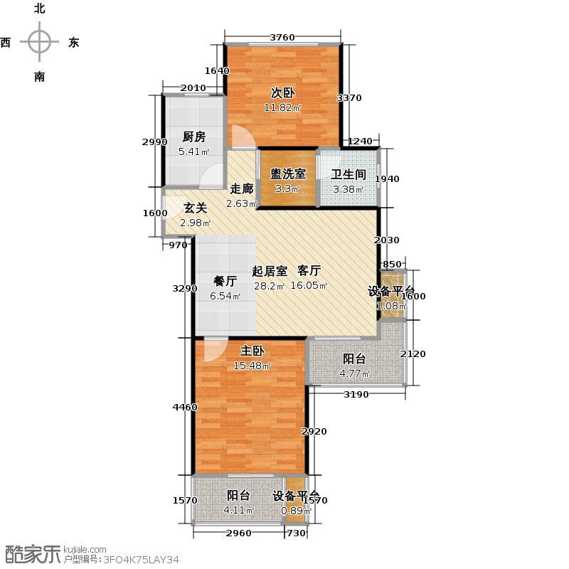 高科麓湾国际社区GA3户型2室1厅1卫