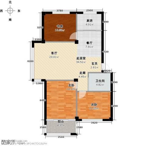 丽景家园3室0厅1卫1厨118.00㎡户型图
