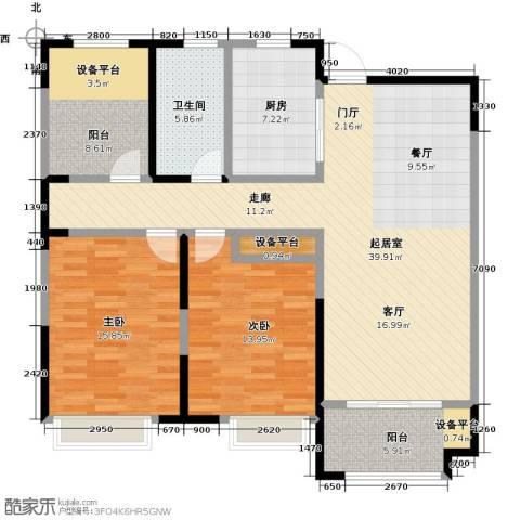 徽盐世纪广场2室0厅1卫1厨138.00㎡户型图