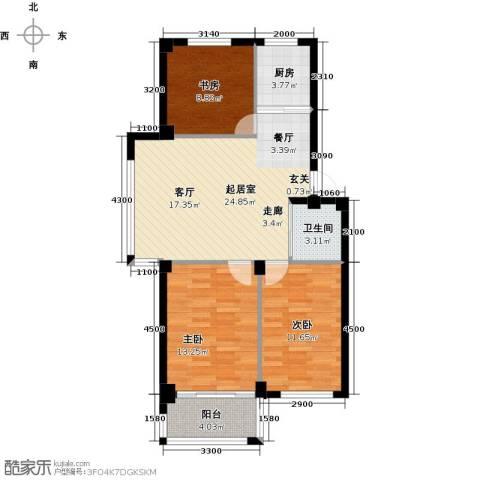 丽景家园3室0厅1卫1厨98.00㎡户型图