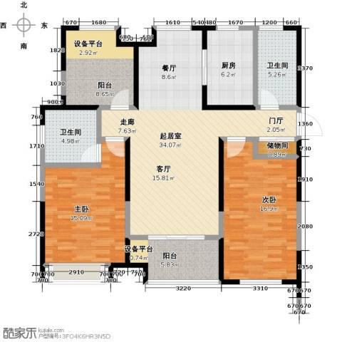 徽盐世纪广场2室0厅2卫1厨138.00㎡户型图
