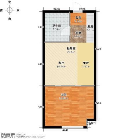 公馆星期81室0厅1卫0厨62.00㎡户型图