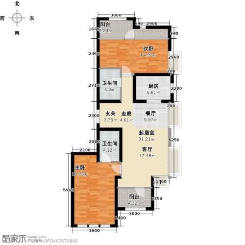金辉・天鹅湾2室0厅2卫1厨129.00㎡户型图