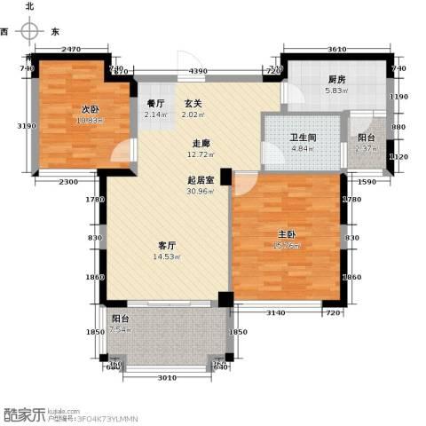 帝奥北城名郡2室0厅1卫1厨87.00㎡户型图