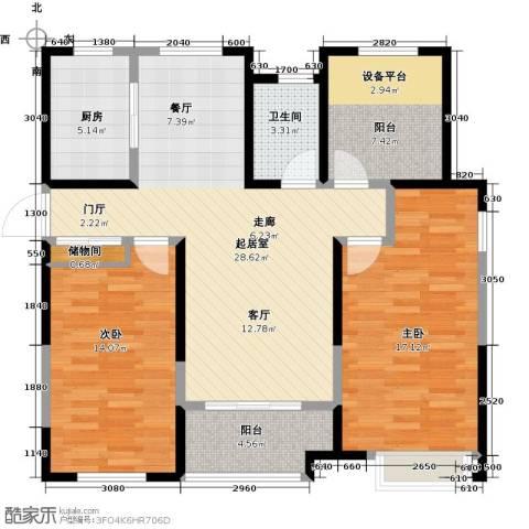 徽盐世纪广场2室0厅1卫1厨115.00㎡户型图
