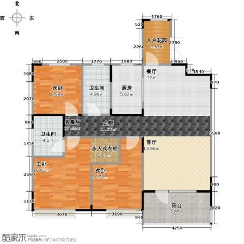 美的城3室1厅2卫1厨111.00㎡户型图