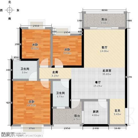 领御玺台3室0厅2卫1厨126.00㎡户型图