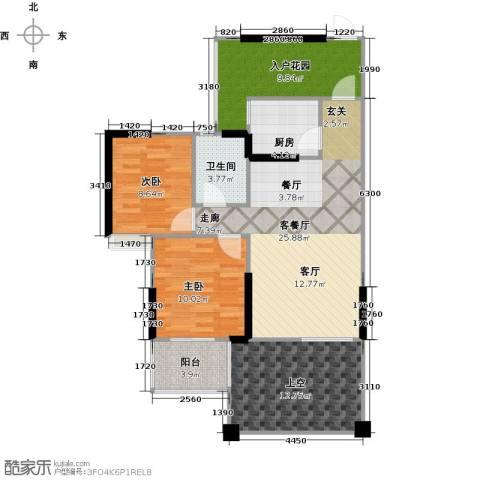 成都合院新青年2室1厅1卫1厨109.00㎡户型图