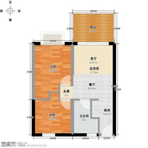 山林君悦2室0厅1卫0厨67.00㎡户型图