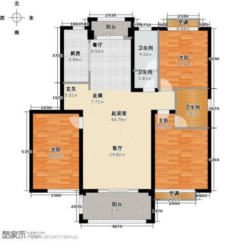 鑫苑世家3室0厅3卫1厨136.00㎡户型图