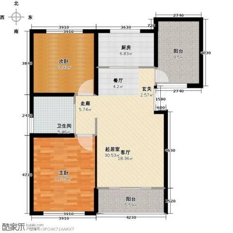 中科苑2室0厅1卫1厨98.00㎡户型图