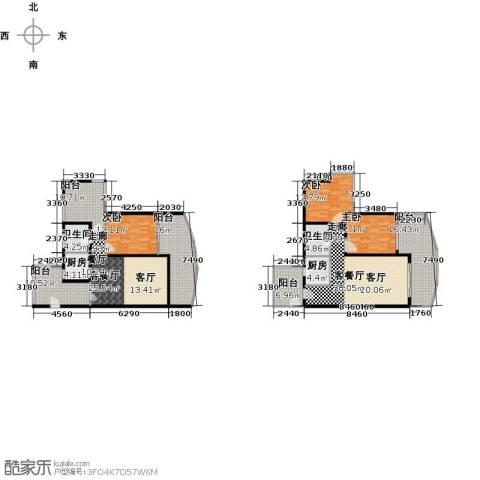 保利・半岛1号3室2厅2卫2厨171.82㎡户型图