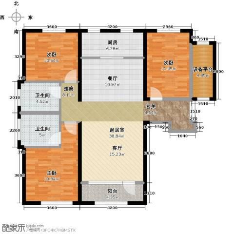 中国塘3室0厅2卫1厨136.00㎡户型图