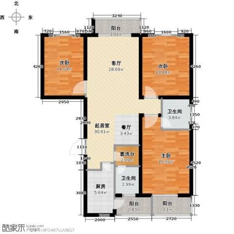 天水丽城二期3室0厅2卫1厨139.00㎡户型图