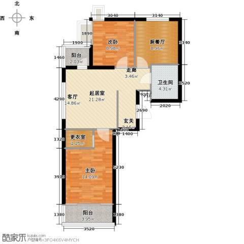 圣地秋实2室0厅1卫0厨77.00㎡户型图