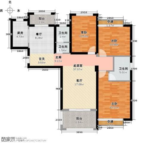 鑫苑世家3室0厅3卫1厨115.00㎡户型图