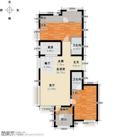金辉・天鹅湾2室0厅2卫1厨141.00㎡户型图