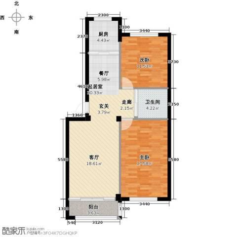 丽景家园2室0厅1卫1厨101.00㎡户型图