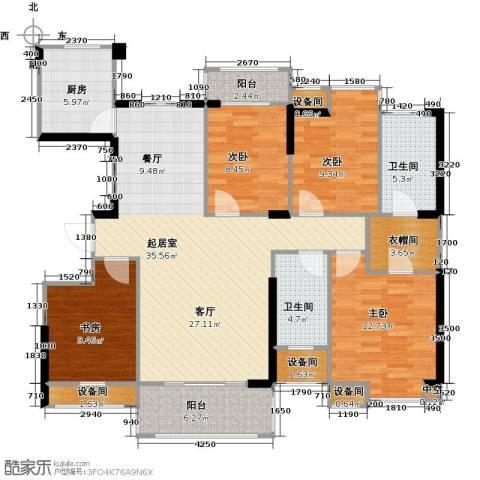 中骏蓝湾香郡4室0厅2卫1厨125.00㎡户型图