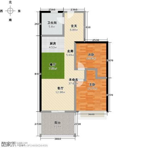金祥・万卷山2室0厅1卫0厨86.00㎡户型图