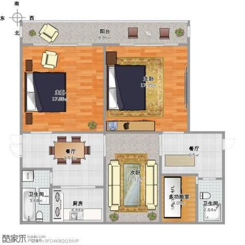 凯旋新村3室2厅2卫1厨119.00㎡户型图