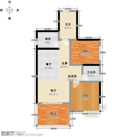 金祥・万卷山2室0厅1卫1厨85.00㎡户型图