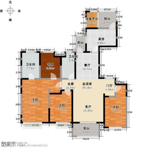 徽盐世纪广场4室0厅2卫1厨188.00㎡户型图