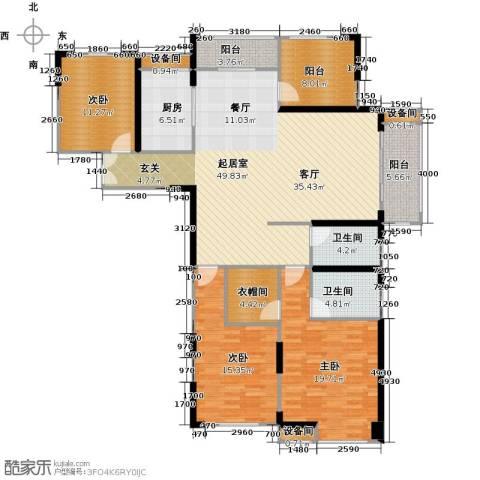 常州红星国际广场3室0厅2卫1厨154.00㎡户型图