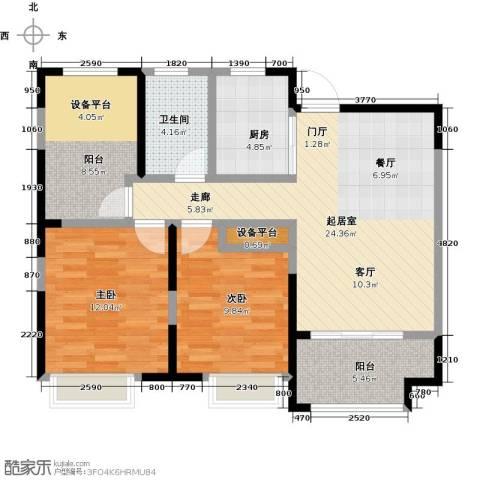 徽盐世纪广场2室0厅1卫1厨100.00㎡户型图
