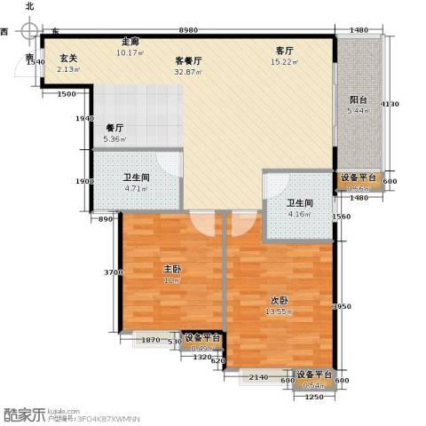 万象湾2室1厅2卫0厨99.00㎡户型图