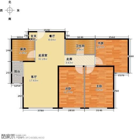 珠江东都国际3室0厅1卫1厨87.00㎡户型图
