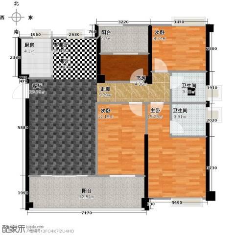 正荣・财富中心4室1厅2卫1厨118.00㎡户型图