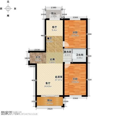 大正莅江2室0厅1卫0厨111.00㎡户型图