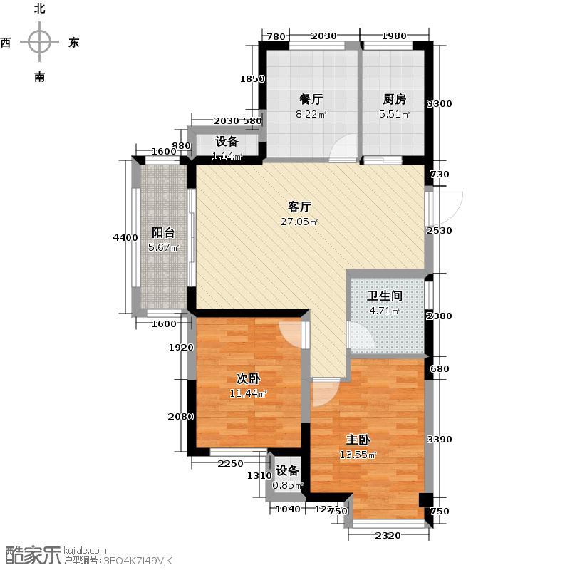 金科中心92.00㎡3幢D-1 边套户型3室2厅1卫
