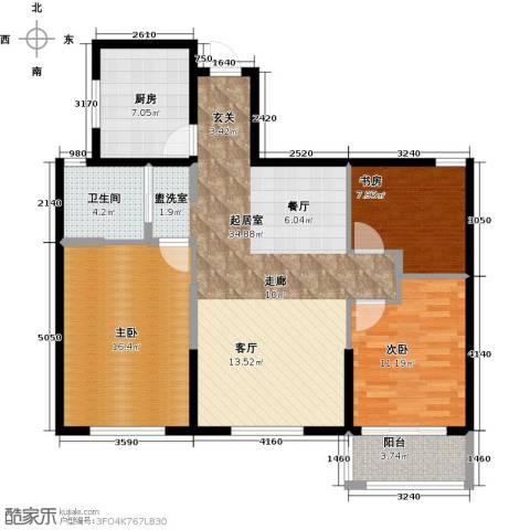 前程藏珑3室0厅1卫1厨99.00㎡户型图
