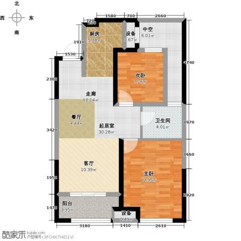 金科中心2室0厅1卫0厨81.00㎡户型图