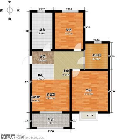 君悦花苑2室0厅1卫1厨93.00㎡户型图