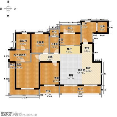 悦上海3室0厅2卫1厨185.00㎡户型图