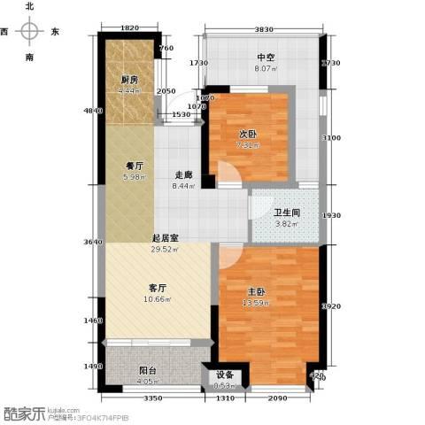 金科中心2室0厅1卫0厨78.00㎡户型图
