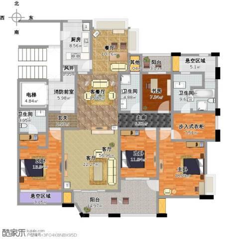 绿地观邸4室1厅3卫1厨261.00㎡户型图