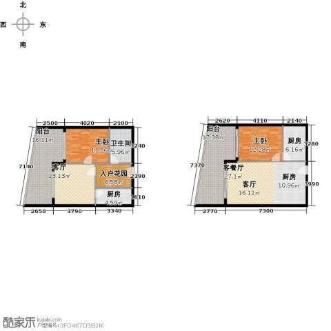 保利・半岛1号2室2厅1卫2厨121.15㎡户型图