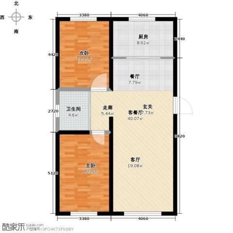 万家翔悦2室1厅1卫1厨91.00㎡户型图
