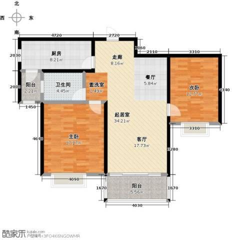 君悦花苑2室0厅1卫1厨95.00㎡户型图