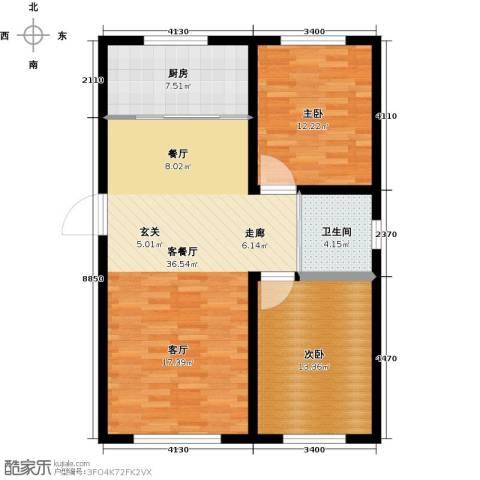 万家翔悦2室1厅1卫1厨82.00㎡户型图