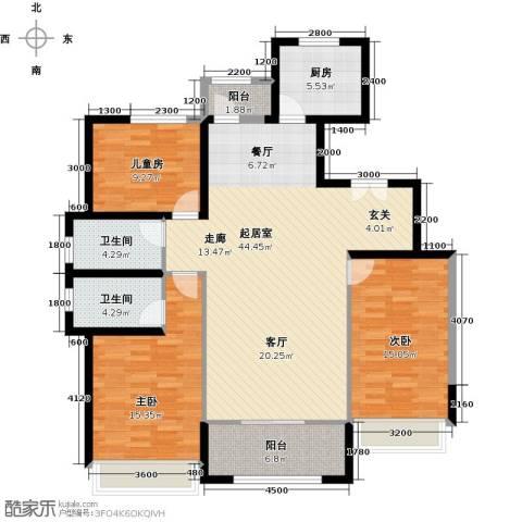 中铁诺德名苑3室0厅2卫1厨150.00㎡户型图