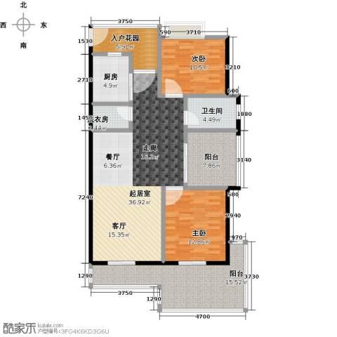 金祥・万卷山2室0厅1卫1厨108.00㎡户型图